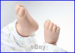 28''Handmade Reborn Silicone Vinyl Lifelike Baby Boy Doll Realistic Newborn Doll
