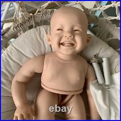28 Inches Reborn Girl Baby Doll Lifelike Newborn Baby Vinyl Unpainted Unfinished