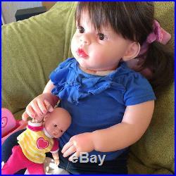 28'' Model Reborn Toddler Dolls Handmade Gifts Baby Lifelike Naked Girl Doll US
