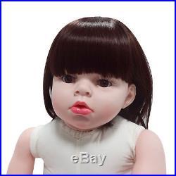 28'' Reborn Toddler Dolls Handmade Lifelike Naked Girl Doll Vinyl Cute Baby Gift