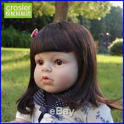 28'' Toddler reborn Baby Girl Doll Silicone Vinyl Reborn Lifelike Newborn toys