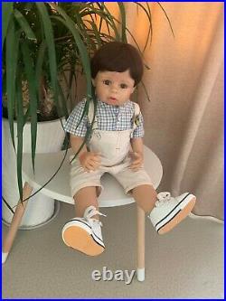 28 Vinyl Reborn Toddler Huge Standing Baby Boy Real Life Size Masterpiece Doll