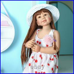 34'' Huge Standing Reborn Toddler Masterpiece Doll Full Body Vinyl Ball Jointed