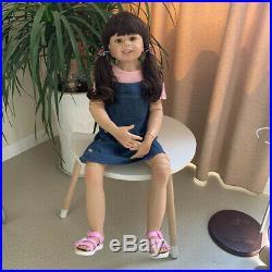 39 Huge Reborn Toddler Realistic Denim Skirt Reborn Baby Dolls Girl Child Model