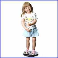 39 Reborn Toddler Dolls Girl Huge Standing Full Vinyl Body Reborn Baby Lifelike