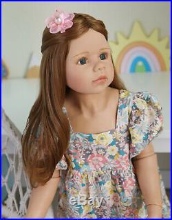 39 inch Reborn Toddler Girl Dolls Huge Big Size Reborn Baby Dolls Vinyl Full