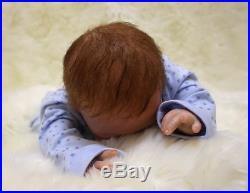 46cm/18 Handmade Reborn Baby Doll Girl Newborn Lifelike Soft Vinyl silicone