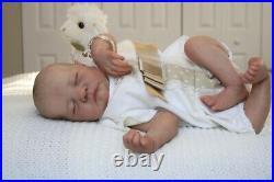 48CM hand-drawing reborn baby doll Levi premie baby boy hair lifelike boy