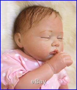 49cm/20 Handmade Newborn Reborn Doll Baby Girl Lifelike Vinyl silicone/ DK-15