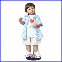 70CM Reborn Baby Dolls Handmade Reborn Toddler Child Model Full Vinyl Real Boy