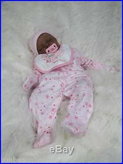 AA BI RACIAL ETHNIC KAYA COMPLETE REBORN BABY DOLL EVA HELLAND & SUNBEAMBABIES