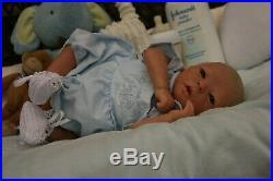 A Groovy Doll, Baby! Reborn Baby Boy Realborn Darren Awake Pntd Hair