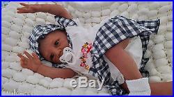 Aa Bi Racial Ethnic Soft Silicone Vinyl Reborn Baby Doll Helland / Sunbeambabies