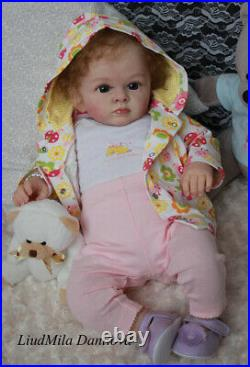 Adorable Reborn baby girl Tutty by Natali Blick realistic doll, limited kit