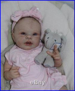 Adrie Stoete Pilar Reborn Baby Doll 21 Tall 6 Lbs Pumpkin Patch Lynn Katsaris