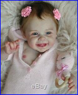 Alla's Babies Reborn Doll Baby Girl Harper sculpt Andrea Arcello IIORA SOLE