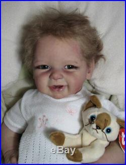 Andrea Arcello Phoenix Reborn Baby Doll 19 Tall 5 1/2 Pounds Tsylina Natalia