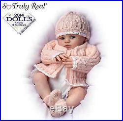Ashton Drake'Abby Rose' Poseable Newborn Baby Doll