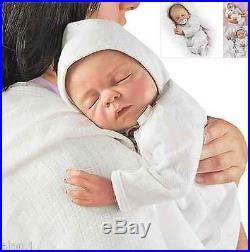 Ashton Drake Cherish lifelike baby doll FREE dummy and a hospital bracelet