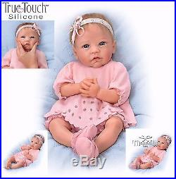 Ashton-Drake Claire lifelike baby Girl Doll Silicone Weighted Rooted Hair