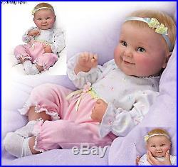 Ashton Drake Lifelike Baby Doll Sweet Cheeks giggles coos Poseable