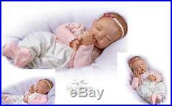 Ashton Drake Lifelike Baby doll Sweet Dreams Little Ava hand-applied hair
