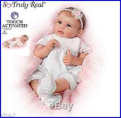 Ashton Drake Lifelike baby doll Olivia interactive Newborn Girl