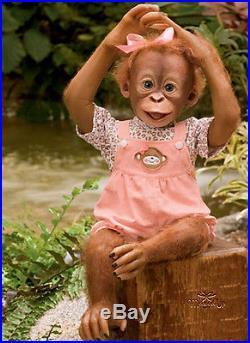 Ashton Drake lifelike baby Monkey MOMOKO Poseable Doll