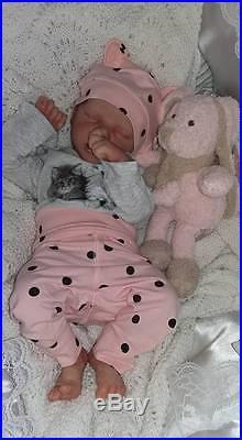 BM Originals CUSTOM Bonnie Brown Twin A or Twin B Reborn Doll Bald Baby Tummy