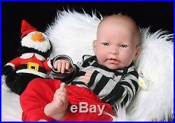 Baby Boy Doll 17 Inches Berenguer clothes Newborn Reborn Soft Vinyl Real Life
