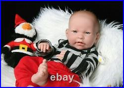 Baby Boy Doll Berenguer 17 Real Alive Soft Vinyl Silicone Preemie Life Like