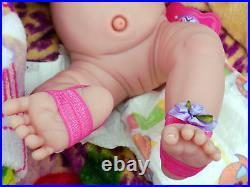 Baby Doll Girl Realistic Preemie Berenguer Newborn Reborn Vinyl 15 Life Like