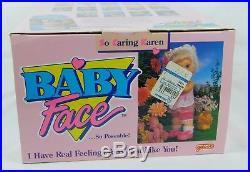Baby Face SO CARING KAREN 13 Doll Poseable Blonde Blue Eyes 90s Galoob NRFB