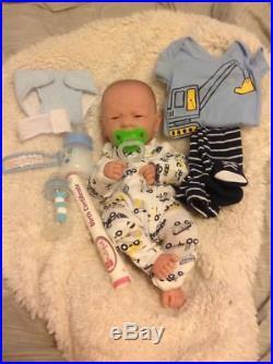 Baby Real Boy Reborn Doll Preemie Toy Newborn 14 PREEMIE, Vinyl Life Like