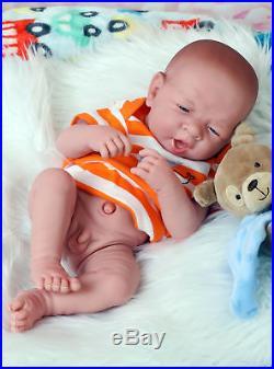 Baby Real Boy Reborn Doll Preemie Toy Newborn 15 Newborn Soft Vinyl Life Like