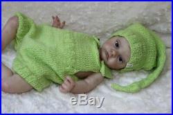 Baby reborn doll Atticus by Laura Lee EaglesFull LimbsGlass Eyes20COA