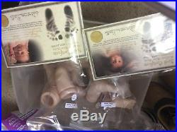 Baby reborn doll kits lot, unesembled, art supplies, 12, with certificates