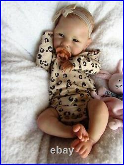 Beautiful Art Doll Reborn Baby Girl Ava By Cassie Brace With Coaflash Sale