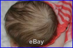 Beautiful Baby reborn doll POPPET by Adrie Stoete Full LimbsGlass Eyes20 COA