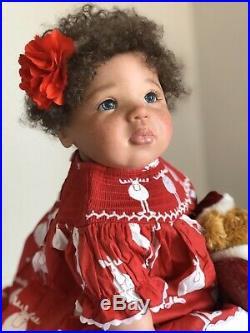 Biracial Toddler Girl, Jamina by Petra SEIFFERT, ethnic reborn doll