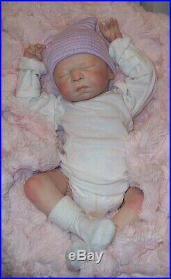 Bountiful Baby Reborn LEAH Vinyl Baby Doll sculpt by Melissa George 18 Preemie
