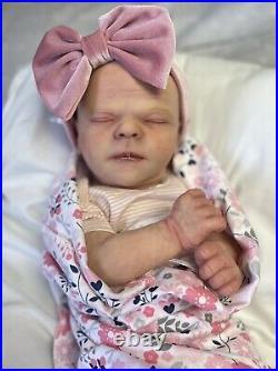 Bountiful baby realborn doll Chase asleep reborn Ooak Realistic