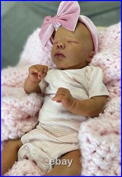 Bountiful baby realborn doll Felicity asleep reborn Ooak Realistic