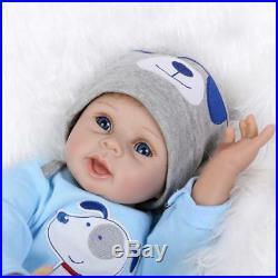 Boy Doll Baby Lifelike 22 Handmade Newborn Reborn Vinyl Clothes Silicone Blue
