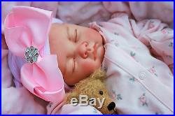 Butterfly Babies Reborn Baby Girl Doll Large Bow Hat Flower All In One S996