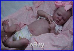 COMPLETED Realborn REBORN Olivia fake baby life like vinyl art ARTIST doll
