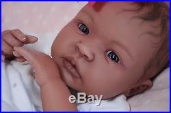 COMPLETED Reborn Bi-Racial AA SHYANN ooak baby lifelike vinyl art ARTIST doll