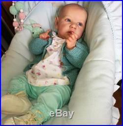 CUSTOM BONNIE BROWN SASKIA! Reborn Baby Doll By Amanda Hannon -Chrysalis Dolls