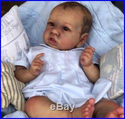 CUSTOM BONNIE BROWN SASKIA! Reborn Baby Doll By Chrysalis Dolls Amanda Hannon