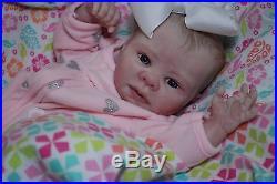 CUSTOM MADE PREEMIE Reborn ooak baby lifelike art ARTIST fake doll vinyl KADENCE
